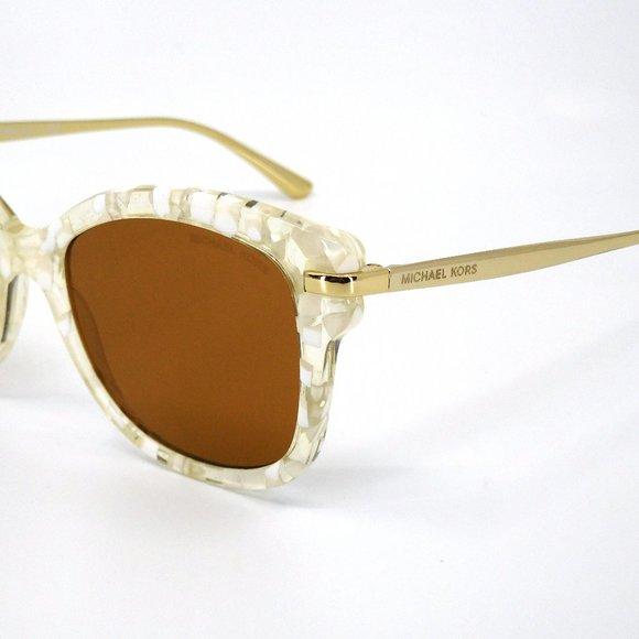 """MICHAEL KORS """"MK 2047 (Lia)"""" Gold & White Sunglasses"""